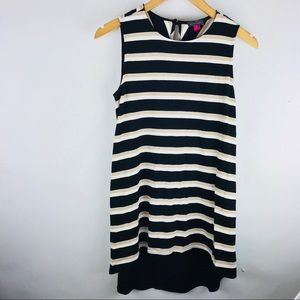 Vince Camuto striped tank top hi low hem NWT